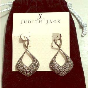 Judith Jack sparkling earrings